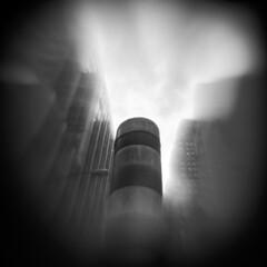 Steam #1 (LowerDarnley) Tags: holga flippedlens reversedlens nyc ny cityscape urbanlandscape pipe steam