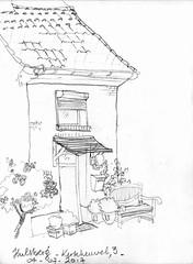 Hulsberg (Crokenflo) Tags: croquis carnetdevoyage croquisdevoyage sketch sketchbook hulsberg architecture architectuur crayon potlod nederland netherlands paysbas limburg zuidlimburg