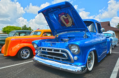 57' Chevy (brutus61534) Tags: 1957 chevy pickup truck tasmanian devil 2017 ppg nationals hot rod car show columbus ohio blue perspective