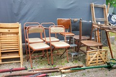 Chairs of all kinds (Paul Van Damme) Tags: chairs fuji x100 aberfoyle ontario flea market