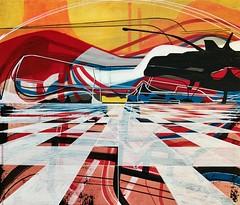 Jim Harris: Umleitung. (Jim Harris: Artist.) Tags: kunstzeitgenössische konst abstract abstractart abstrakt taide peinture lartabstrait geometric geometrický geometrisk landslag landscape modernart contemporaryart space cosmos weltraum interior