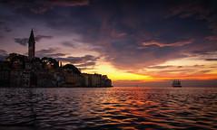 Sail away (Petra Runge) Tags: sonnenuntergang sunset himmel sky meer sea küste coast wasser water kroatien rovinj adria segelschiff croatia sailing ship