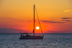 When the sun goes down (Vagelis Pikoulas) Tags: sun sunset boat yacht porto germeno greece canon 6d tamron 70200mm vc sea seascape landscape view sky colour colours