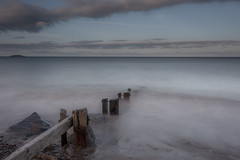 Youghal strand 13-06-2017 (John Holmes (DAJH51)) Tags: aged beach evening groyne old rocks sand sea seascape softfocus wood youghalstrand