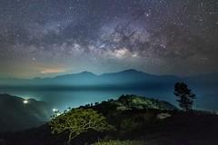 武界~孤獨樹銀河~  Milkyway (Shang-fu Dai) Tags: 台灣 taiwan 南投 武界 nikon d800e sky landscape formosa nantou galaxy 銀河 星空 milkyway 戶外 夜景 天空