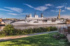 HMS Ocean (robinta) Tags: landscape urban ship naval warship transport craft sea river sunderland royalnavy pentax sigma sigma18200mmhsmc colour