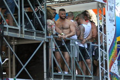 Madrid World Pride (enric archivell) Tags: gaypride gayparade madridgaypride guys sexyguys men pecs abs cute gorgeous muscle barechested shirtless