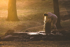 The fountain (Ch.Benabid.Photographies (fb/page)) Tags: water outdoors light sunlight afternoon boy drink thirsty woods streetphotography