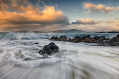 Traigh Bheag (The Small Beach), Isle of Harris, Scotland (MelvinNicholsonPhotography) Tags: traighbheag isleofharris beach waves outerhebrides skies clouds sand rocks thesmallbeach scotland melvinnicholsonphotography