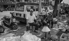 weekend flea market moments (steve: they can't all be zingers!!! (primus)) Tags: sonya7r sony monochrome bw blackwhite blackandwhite primelens canon taiwan taichungtaiwan taichung