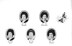 Miyako Odori 1978 023 (cdowney086) Tags: gionkobu miyakoodori vintage 1970s 祇園甲部 inoue 井上流 都をどり geiko geisha 芸者 芸妓 tomigiku 冨菊 momoyakko 百奴 dane だん栄 namie 奈三栄 momoko 桃子
