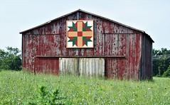 Quilt Barn (robgividenonyx) Tags: kentucky barns owencounty quiltbarn redbarn red faded rural