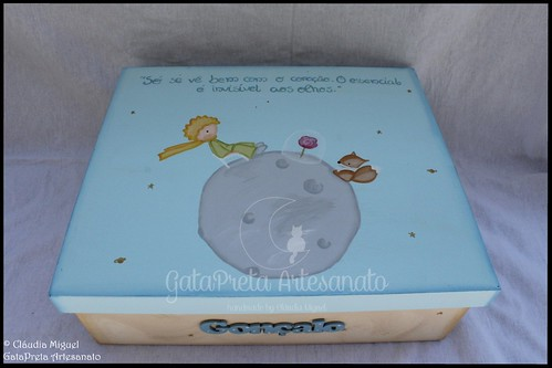 """Caixa para recordações de batizado """"Mundo do Principezinho"""""""