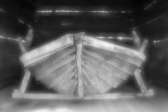 Very old boat (Helena Normark) Tags: rowboat oldrowboat woodenboat pictorialism glow glowing jämtland sweden sverige sonyalpha7 a7 50mm monocle monolens russianlens