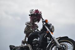 Ghost Rider, Aston, Birmingham (Manoo Mistry) Tags: nikon tamron nikond5500 tamron18270mmzoomlens birmingham birminghampostandmail westmidlands birminghamuk ghost ghostrider aston motorbike skeleton funny silly