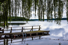 17-07-03 mec schaalsee pan refl trauerweid dsc07986 (u ki11 ulrich kracke) Tags: mecklenburgvorpommern panorama reflektion schaalsee steg trauerweide wolkezart 7 dwf landscapes