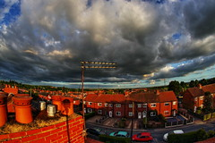 Swillington Rooftops (Yorkshire Pics) Tags: swillington rooftops sunset goldenhour leeds 0406 04062017 chimney aerial swillingtonscenery