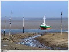 How is it going now? (E-M1.de) Tags: boot buhne nordfriesland pellworm poller schleswigholstein watt