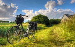 A Bicyclette (YᗩSᗰIᘉᗴ HᗴᘉS +6 500 000 thx❀) Tags: vélo campagne campaign cycle bike bicycle nature green sky blue bourvil song hensyasmine saariysqualitypictures