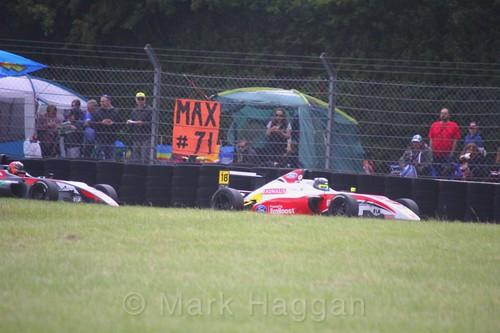 Hampus Ericsson in British F4 during the BTCC weekend at Croft, June 2017