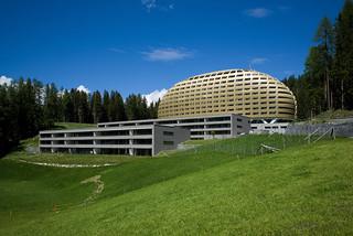 Hotel InterContinental Davos (the golden egg)