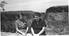 My Great Aunt Jeanette and my Grandmother (sisters) (JuneNY) Tags: auntjeanette margaret grandmother escarpment niagarafalls