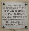 Fernand Klaimitz, dit Paul Marchand - plaque at 7 rue Villehardouin, Paris 3rd arr (Monceau) Tags: fernandklaimitz plaque paulmarchand 4juillet1944 mortpourlafrance killed combat wwii paris openplaques:id=42930