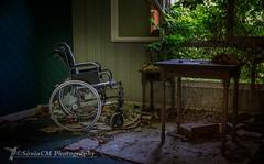 Asylum (Sònia Urbex) Tags: esfujifilmx house asylum forgotten fuji fujixt1 fujifilmxt1 xt1 abandoned urbandecay urbex france wheelchair home chateau old