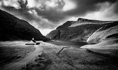 Saksun B&W - Faroe Islands (@PAkDocK / www.pakdock.com) Tags: 2016 adventure cliff clouds faroe faroese feroe grass grassland green island islands islas lake landmark landscape nature ocean outdoor outdoors pakdock panorama panoramic planet scotland sea sunny travel village wanderlust sky water rock mountain seashore scenic saksun church blackandwhite black white blancoynegro monochrome