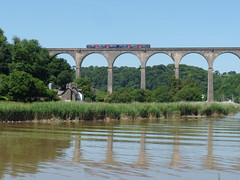150127 Calstock Viaduct (5) (Marky7890) Tags: gwr 150127 class150 sprinter 2p85 calstockviaduct railway cornwall calstock tamarvalleyline train