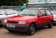 H183 AMW (1) (Nivek.Old.Gold) Tags: 1991 vauxhall nova 14 sr skurrays swindon marlborough aca