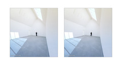standing man . . . (Dichtung & Wahrheit (Poetry and Truth)) Tags: art architecture street people diptych house man prototype archaic explore4