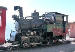 Brienz Rothorn Bahn, Switzerland - No. 6 built by SLM in 1933 stands at the Summit on the 13th September 2016 (trained_4_life) Tags: brb switzerland brienzrothornbahn berneroberland berneseoberland steamlocomotive racklocomotive