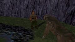 Conversing With the Beast #3 (BarricadeCaptures) Tags: kings quest mask eternity kingdom daventry connor pathetic beast unicorn poisoned pond video game screen capture screenshot screencap