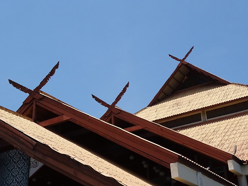 Detail of Chamber of Commerce Building - Chiang Mai - Thailand