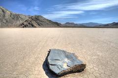 Flat rock on the race track (taharaja) Tags: cactus california deathvalley desert furnacecreek ghosttown jeeping lowestpoint nationalpark offroad oldtown racetrack sealevel zabriskiepoint lakebed movingstones slatflats unitedstates