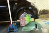 Toyota Aygo Work in Progress (ND-Photo.nl) Tags: toyota aygo brake caliper calipers bosch rem klauw remklauw geel fluor fluorescant fluo fluoriserend diy paint verf spuitbus spraycan spraygun cangun