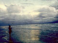 Early light {178/365} (therealjoeo) Tags: corpuschristi padreisland morning beach rain fisherman fish wave water light 365 365project texture painting