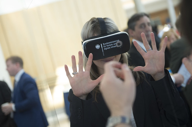 Virtual reality at the German Ministry stand