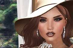 Snapshot_can_these_eyes_lie (jeffresident) Tags: shy jeff jeffferie closeup portrait laq hat brunette wewanttobefree canceledgroup coffeetime mesh beauty outdoor jewelery 7deadlyskin freckles