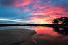 River Sunset (Aaron.J.r.S) Tags: meredithriver sky swansea sunset sunrise landscape lightroom4 longexposure photoshopcs6 river reflection reflections nd ndfilter neutraldensityfilter canon canon5dmark3 ef1740mmf4lusm
