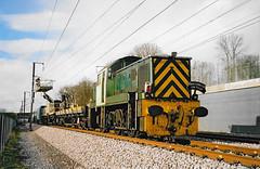 D9504 Detling CTRL 19/01/2003 Scan (Waddo's World of Railways) Tags: d9504 detling hs1 ctrl class14 channeltunnelraillink channeltunnelraillinkconstruction