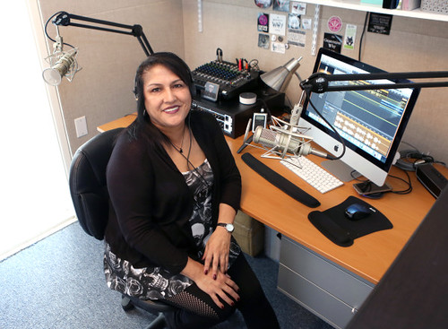 Esther Armendariz Ludlow in the studio