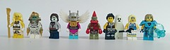 loh Supporting Characters (slight.of.brick) Tags: loh lego minifig figbarf supporting characters artifact tomb spook retro suckerpunch requiem wrench wench blue belle