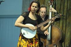 Rhiannon Giddens (2017) 03 (KM's Live Music shots) Tags: americana unitedstates rhiannongiddens minstrelbanjo banjo neworleansjazzheritagefestival bluestent fairgroundsracecourseneworleans