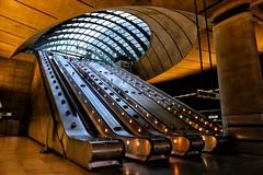 Canary Wharf Tube Station (PeskyMesky) Tags: london canarywharf tube isleofdogs docklands escalator