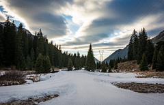 The Snowy Way (Zano91) Tags: clouds sky grass panorama contrast rain nikon d7100 trees tree foreground background outdoor sigma art mountain mountains mount penice colorful vibrant cloud meteo landscape mood moody weather foothill hill mountainside 1835mm wind snow ski sun light windy solitude slope barn barns cabin cabins house trail hdr crosscountry wires