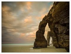 AS CATEDRAIS AT SUNSET (vieribottazzini) Tags: galicia ascatedrais seascape tide beach clouds sunset natgeo beauty arches cathedral erosion coast cliffs longexposure longexposures