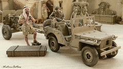 Bantam Jeep (WesternOutlaw) Tags: ratpatrol kingcountry kingandcountry montgomery m3 granttank m3grantcruiser m3tank grantcruiser 130 130scale 7tharmoreddivision 7tharmoureddivision desertrats afrikakorps afrikakorpsdiorama icecoldinalex seaofsand sahara playdirty desertpatrol lrdg