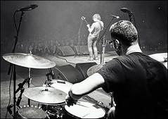 Ryan Margaret Court Arena. Melbourne Australia 2017 (Dave Kehs) Tags: ryan adams canon 5d 1635 tour music drum tech travel photography dave kehs bingham davebingham333 bw black white